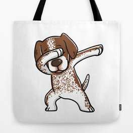 Dabbing German Shorthaired Pointer Dog Dab Dance Tote Bag