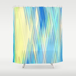 Re-Created Vertices No. 8 by Robert S. Lee Shower Curtain