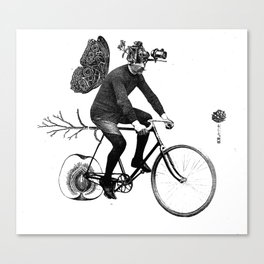 *Bycicle ride. Canvas Print