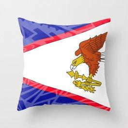 American Samoa Flag Throw Pillow