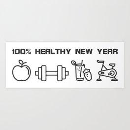 Healthy New Year Resolution Art Print
