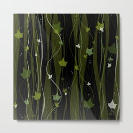 Climbing Vines Dark - English Ivy Metal Print
