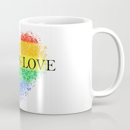 Love Is Love Rainbow Pride Heart 7 Minimalist Art Coffee Mug