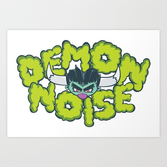Demon Noise Art Print
