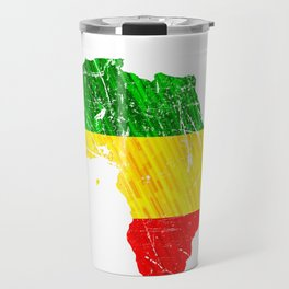Africa Map Reggae Rasta design Green Yellow Red Africa pride Travel Mug