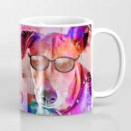 Cool Hipster Dog With Sunglasses Coffee Mug