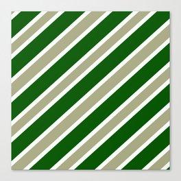 TEAM COLORS 1,,,GREEN ,TAN Canvas Print