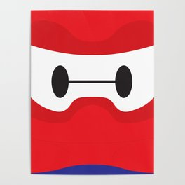 Baymax Block Poster