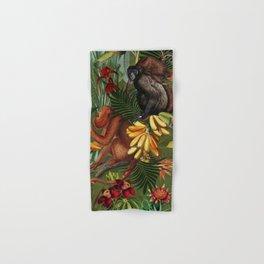 Vintage & Shabby Chic - Green Monkey Banana Jungle Hand & Bath Towel