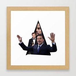 Youtriangle ∆ Leonardo DiCaprio Framed Art Print