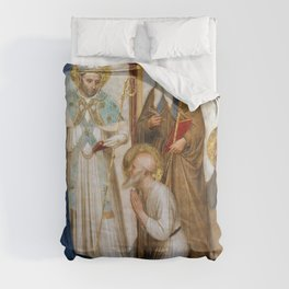 """Fra Angelico (Guido di Pietro) """"Crucifixion with Saints"""" (San Marco) - detail Comforters"""
