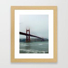 golden gates and foggy skies Framed Art Print