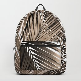 Golden Brown Palm Leaves Dream - Cali Summer Vibes #1 #tropical #decor #art #society6 Backpack
