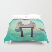 captain silva Duvet Covers featuring My Captain by General Design Studio