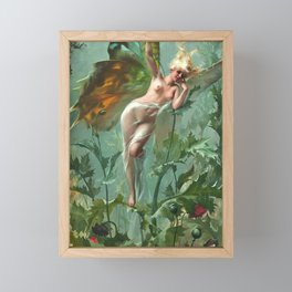 "Luis Ricardo Falero ""The Poppy Fairy (also known as La Femme Papillon)"" Framed Mini Art Print"