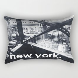 B&W New York, Please Love Me Rectangular Pillow