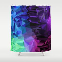 Crazy Crystals Shower Curtain