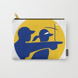 Caddie and Golfer Icon Carry-All Pouch