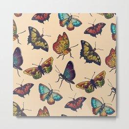 Butterflies and Moths Metal Print
