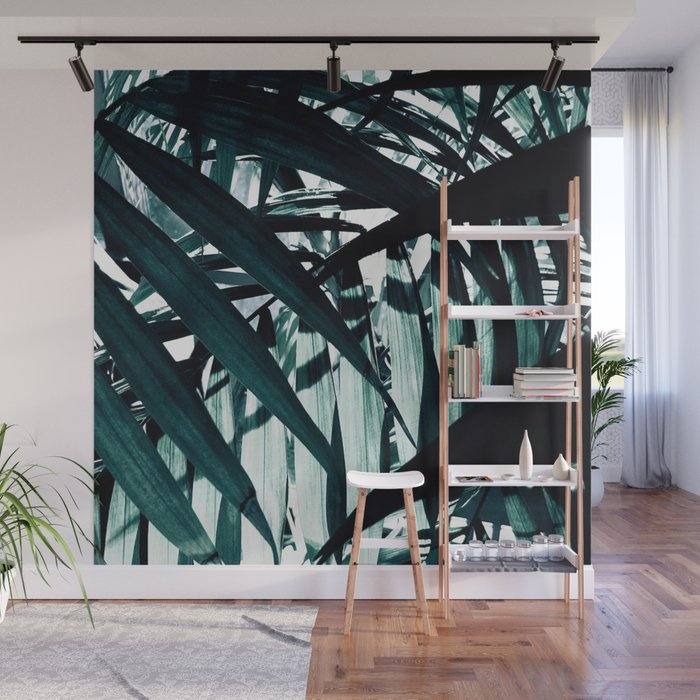 Inside of Palm Trees Wall Mural