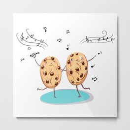 Cookies funny biscuits cute Metal Print