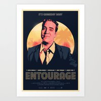 entourage Art Prints featuring Entourage - Gameday Baby! by Scott McRoy
