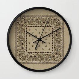 Brown Denim Bandana Wall Clock