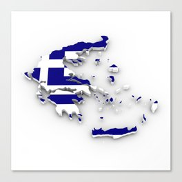 GREECE LOVE Canvas Print