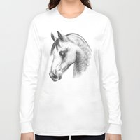 arab Long Sleeve T-shirts featuring Arab horse head by Mindgoop