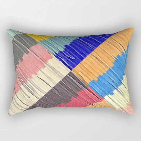 Cool Colors Collage Rectangular Pillow