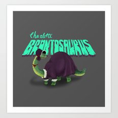 Charlotte Brontosaurus Art Print