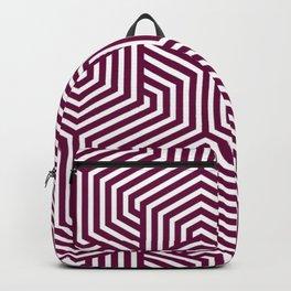 Tyrian purple - violet - Minimal Vector Seamless Pattern Backpack