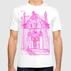 Building sketch Mens Fitted Tee SMALL White