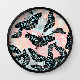Butterflies #2 Wall Clock