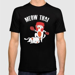 Funny Muay Thai Cats Thai Boxing Fighter Gift T-Shirt T-shirt