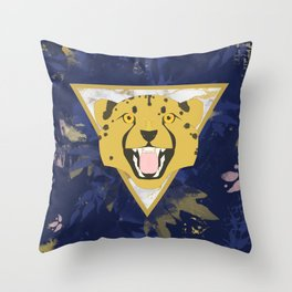 midnight safari Throw Pillow