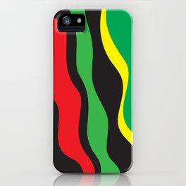 Red Yellow Green Black Rasta Wave iPhone Case