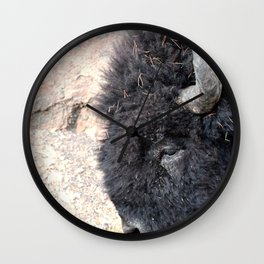 Bison Drive By Wall Clock
