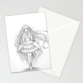 Snow white (style)- sweet anime/manga girl Stationery Cards