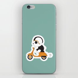 Panda on vespa iPhone Skin