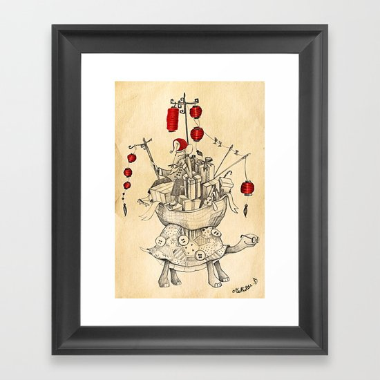 Mouse in China Framed Art Print