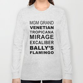 Las Vegas Casinos in Subway Sigh Style Long Sleeve T-shirt