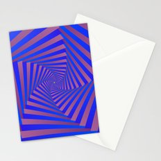 Pentagon Spiral in Blue and Mauve Stationery Cards