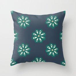 Scandi Daisies Throw Pillow
