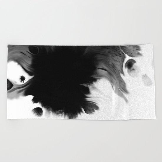 Black ink Beach Towel