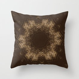 Sequential Baseline Mandala 35 Throw Pillow