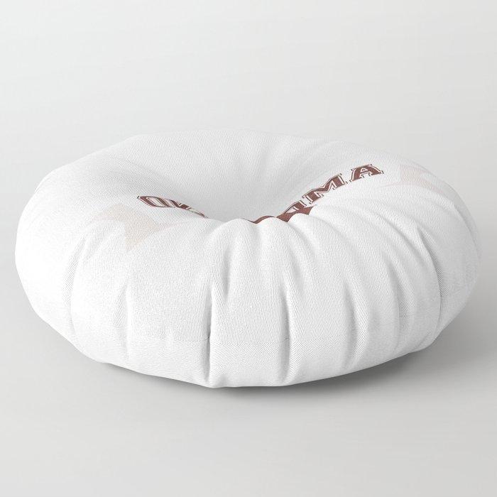 Just a Baller from Oklahoma Football Player Floor Pillow