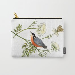 Nuthatch and Carrot Carry-All Pouch