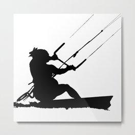 Wakeboarder Water Sport Silhouette Metal Print