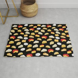 Cheese pattern food fight apparel and gifts Rug